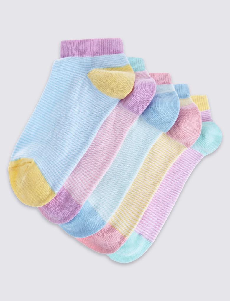 5'li Çizgili Çorap