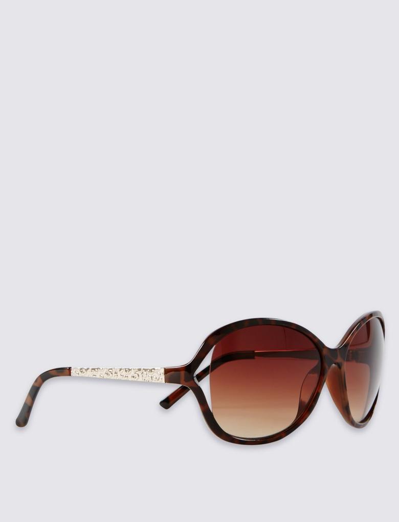 Kahverengi Desenli Güneş Gözlüğü