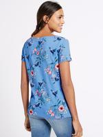 Çiçek Desenli Ponpon Detaylı T-Shirt