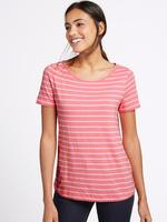 Kısa Kollu Çizgili Ponpon Detaylı T-Shirt