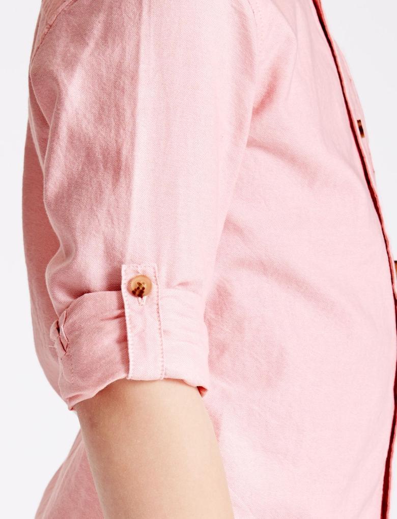 Uzun Katlanabilir Kollu Gömlek