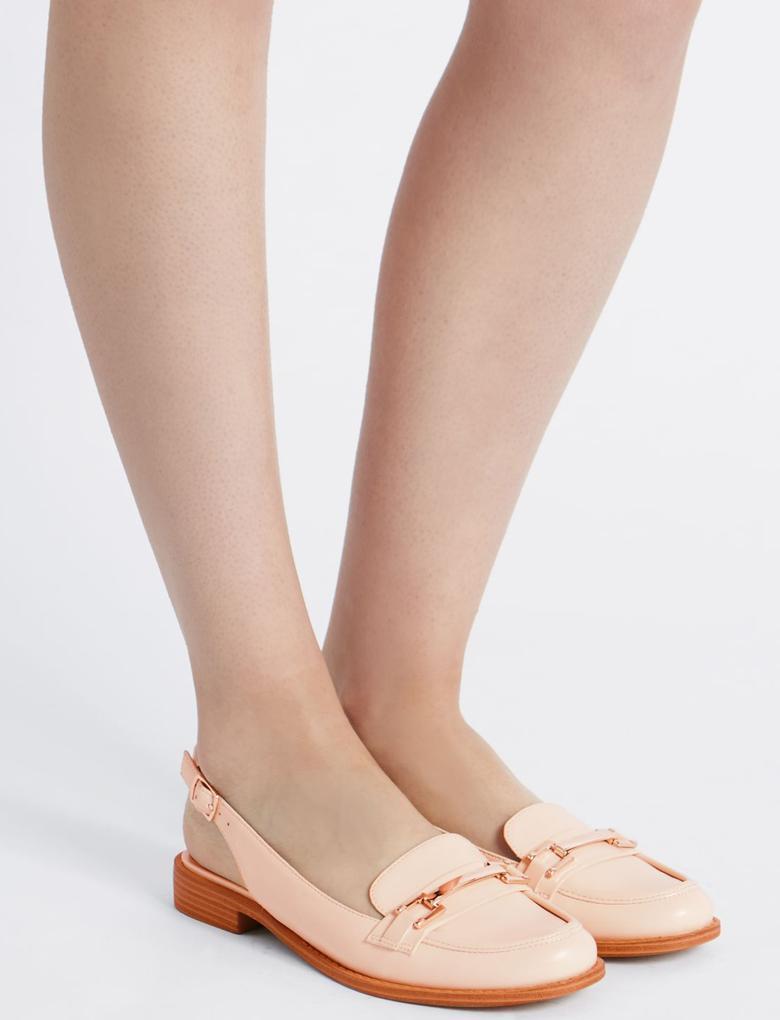 Arkası Açık Tokalı Ayakkabı