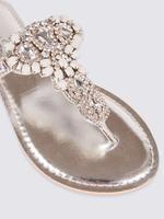 Taşlı Parmak Arası Terlik Ayakkabı