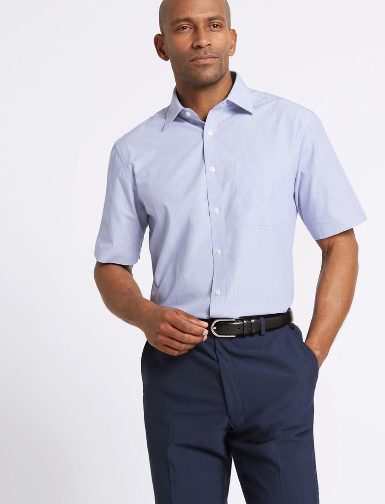 Pamuklu Kısa Kollu Regular Fit Gömlek