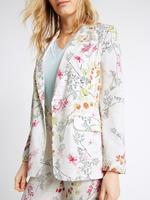 Çiçek Desenli Ceket