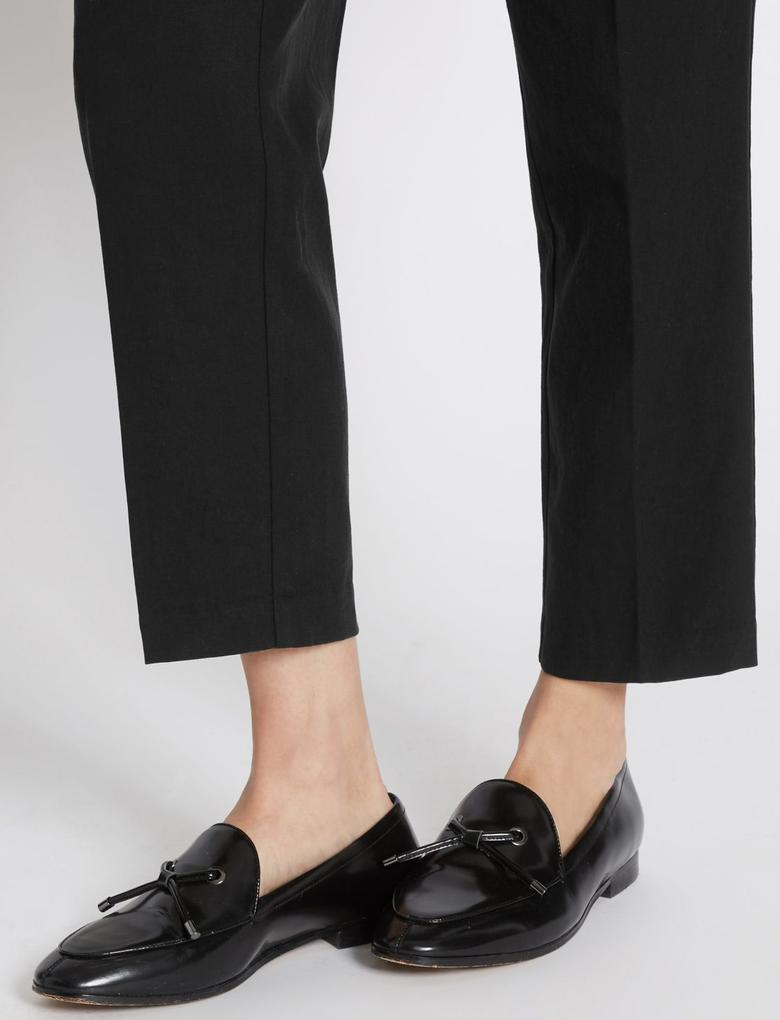 Kuşaklı Tapered Leg Pantolon