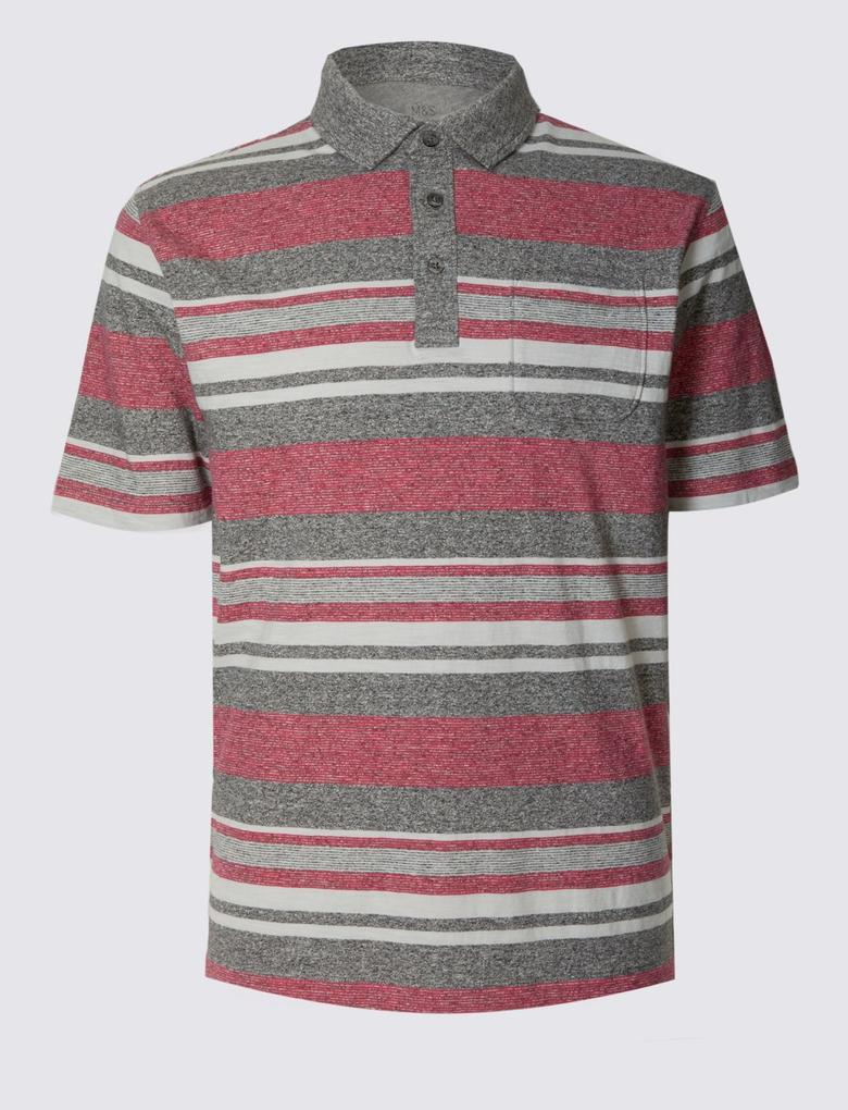 Gri Kısa Kollu Polo Yaka T-Shirt