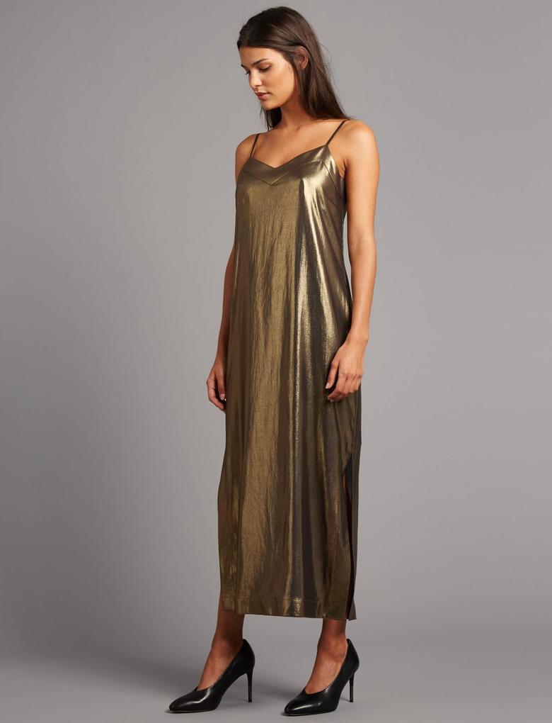 Pırıltılı Yarım Astarlı Elbise