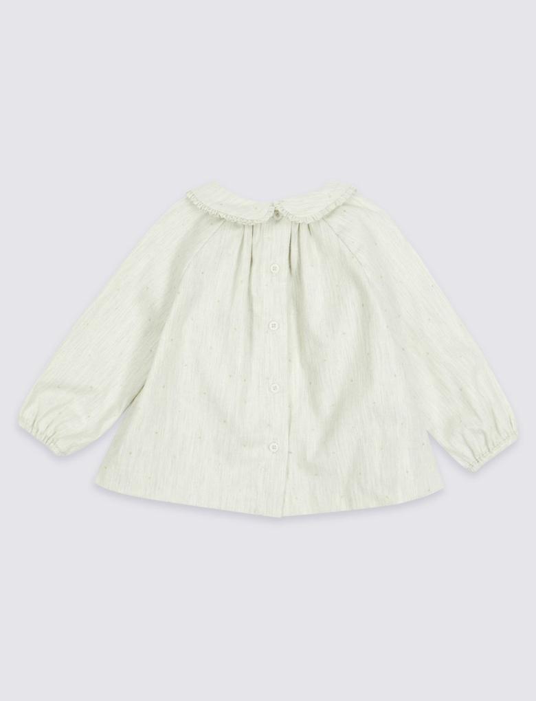 Marie Chantal - Uzun Kollu Bebe Yaka Bluz