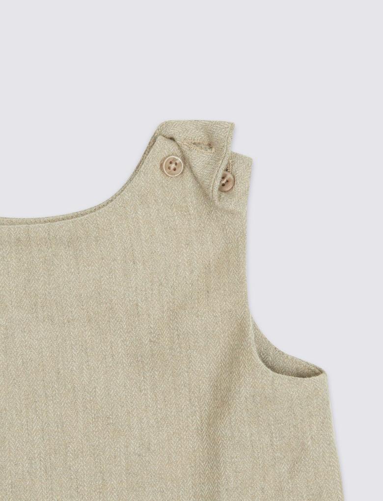 Bej Marie Chantal - Fiyonk Detaylı Yün Elbise