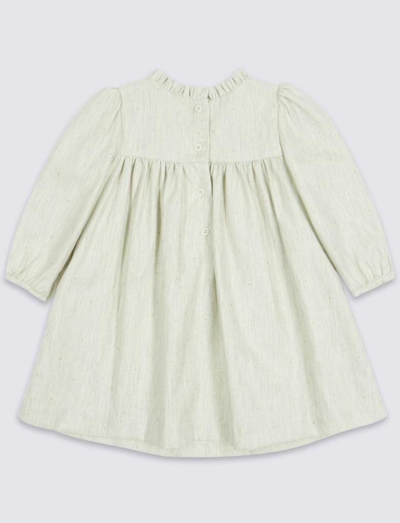 Gri Marie Chantal - Düğmeli Elbise