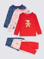 3'lü Desenli Pijama Takımı