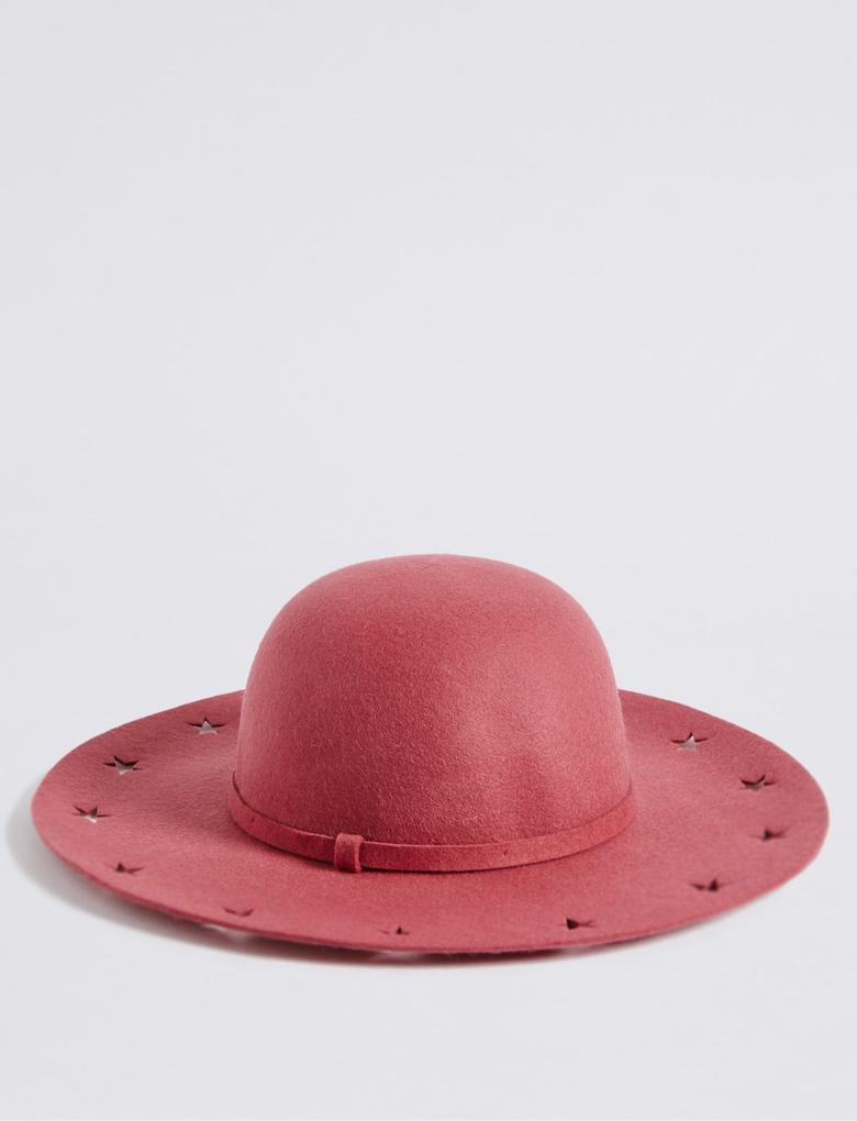 Pembe Yıldız Detaylı Şapka