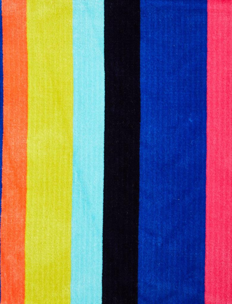 Multi Renk Çizgili Plaj Havlusu