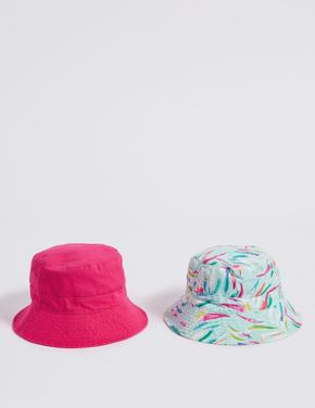 2'li Saf Pamuklu Şapka