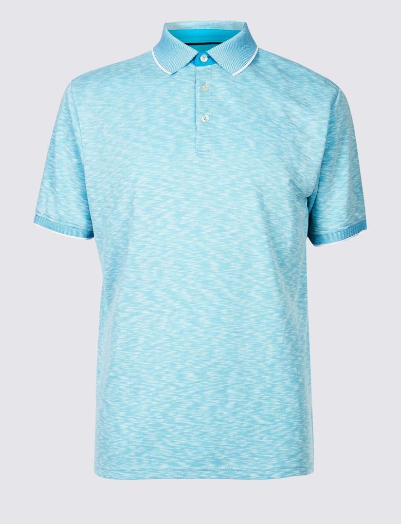 Modal Karışımlı Polo Yaka T-Shirt