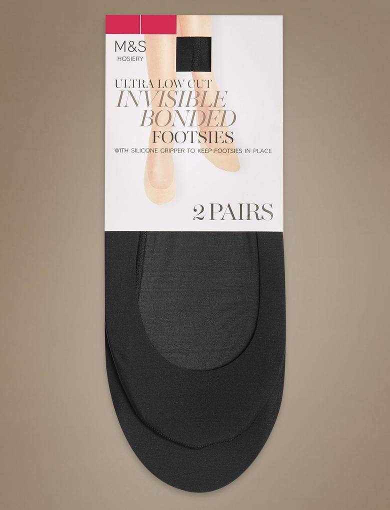 Siyah 2'li Babet Çorabı