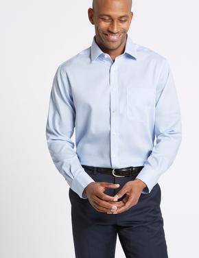 Saf Pamuklu Ütü Gerektirmeyen Regular Fit Gömlek