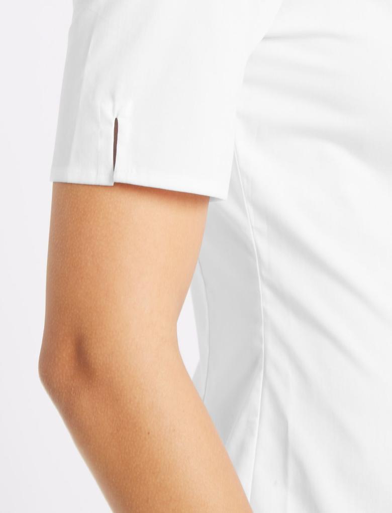 Pamuklu Kısa Kollu Gömlek
