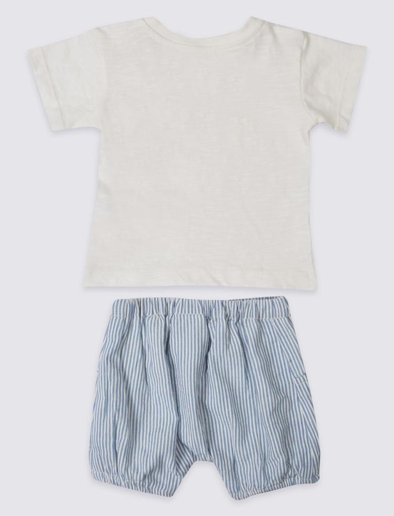 Beyaz 2'li Kıyafet Takımı