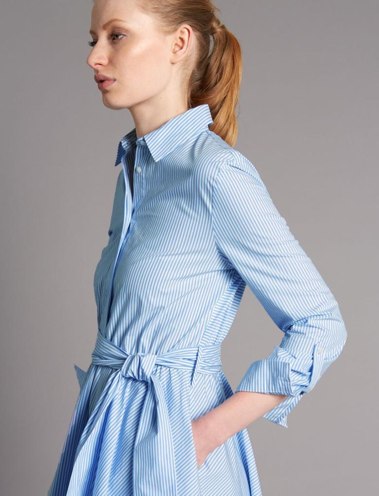 Uzun Kollu Gömlek Elbise
