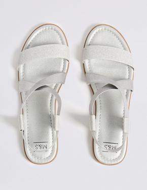Metalik Açık Ayakkabı