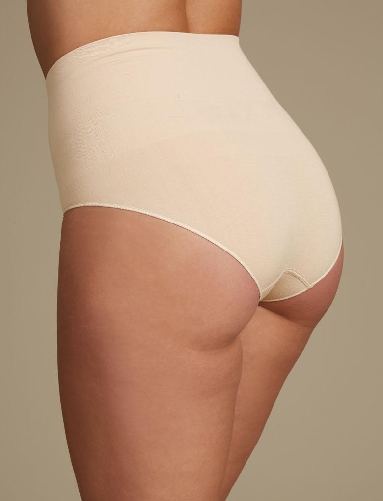 Bej 2'li Modal Karışımlı High Leg Külot