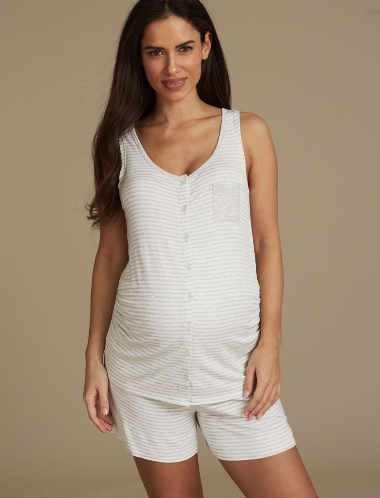 Çizgili Hamilelik Pijama Altı