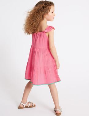 Saf Pamuklu Elbise