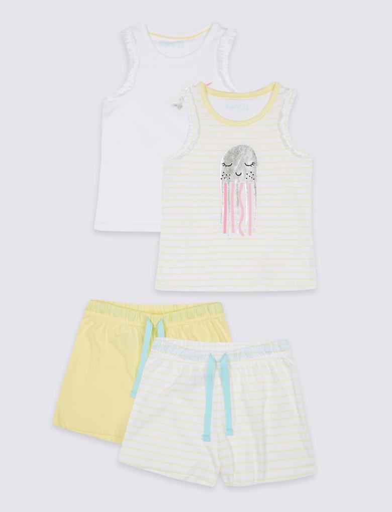 Sarı 2'li Pijama Takımı