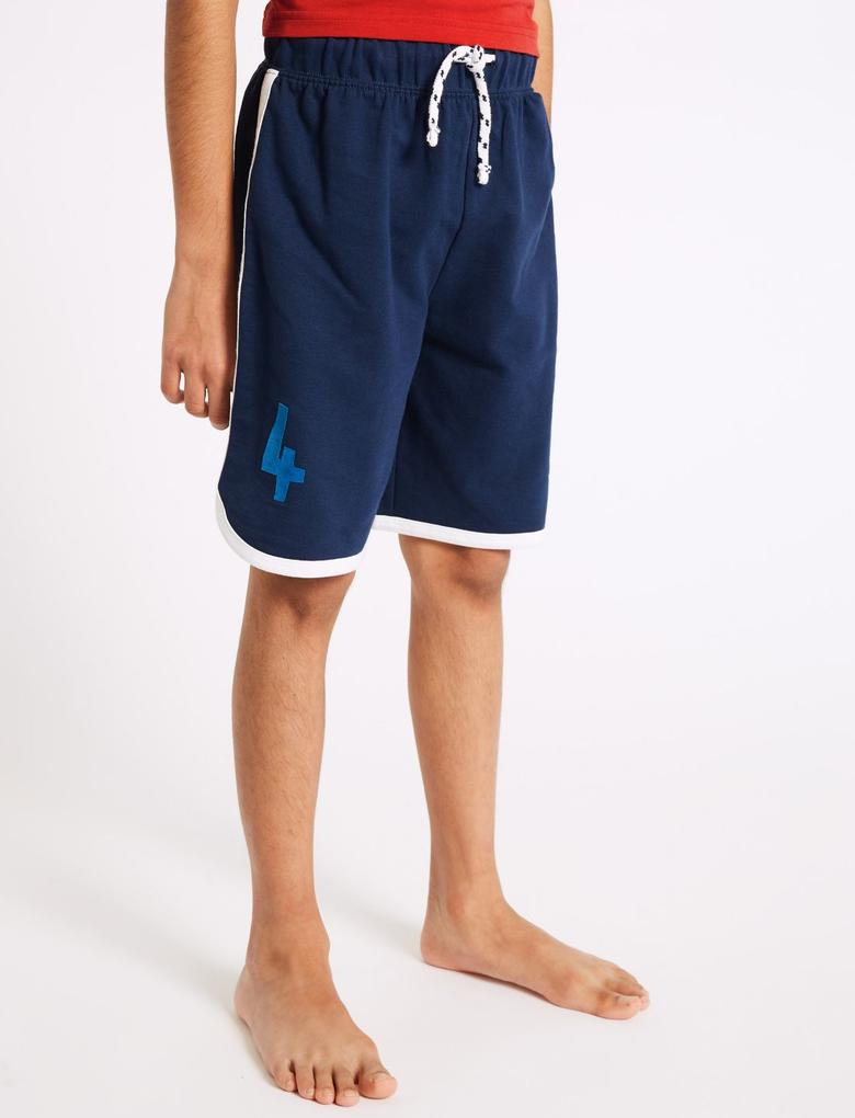 Kahverengi Saf Pamuklu Pijama Takımı