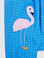 Saf Pamuklu Flamingo Desenli Tulum