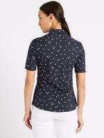 Pamuklu Desenli Yarım Kollu Gömlek