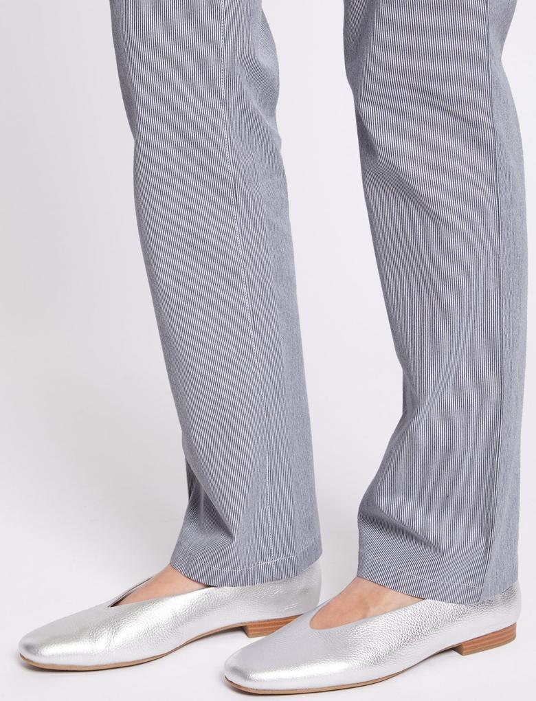 Pamuklu Çizgili Chino Pantolon