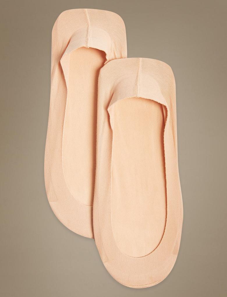 2'li Pamuklu Babet Çorabı