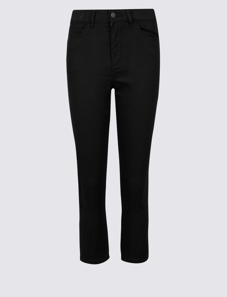 Orta Belli Super Skinny Leg Kısa Jean Pantolon