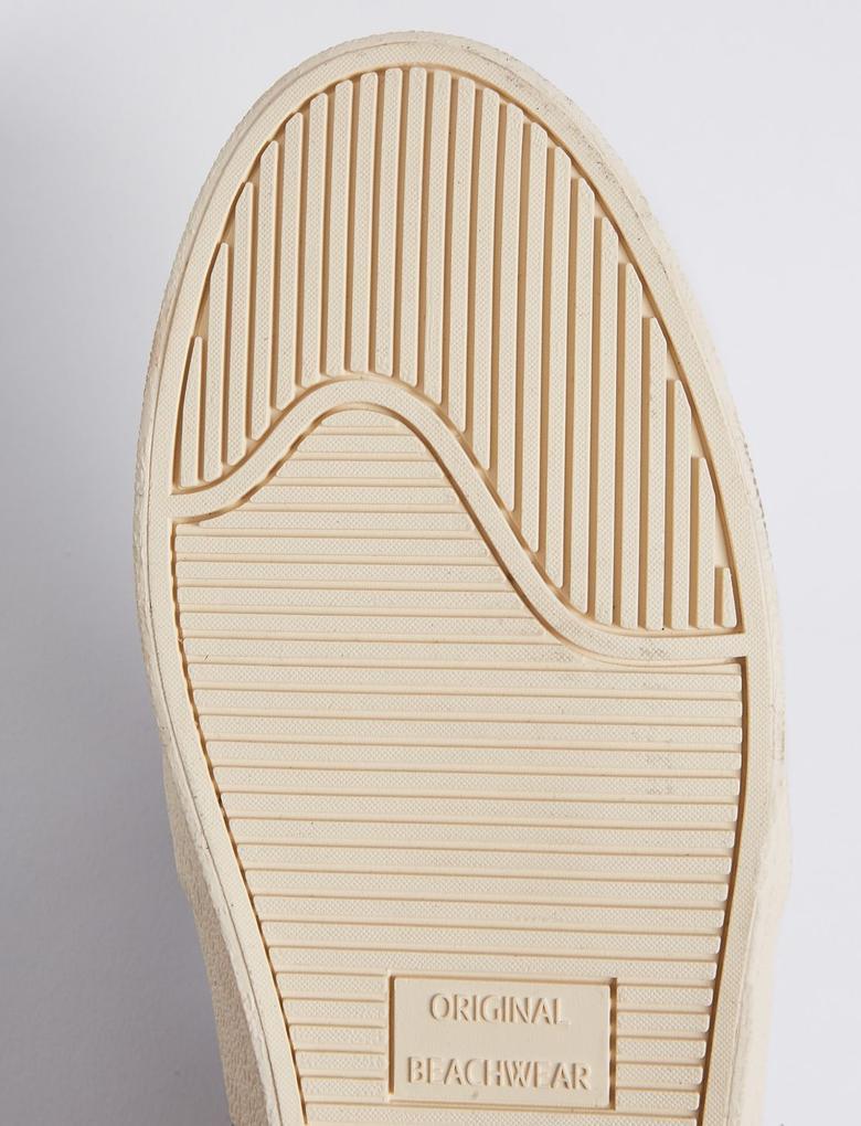 Lacivert Palmiye İşlemeli Ayakkabı