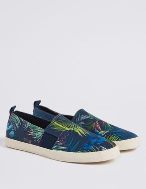 Desenli Bağcıksız Ayakkabı