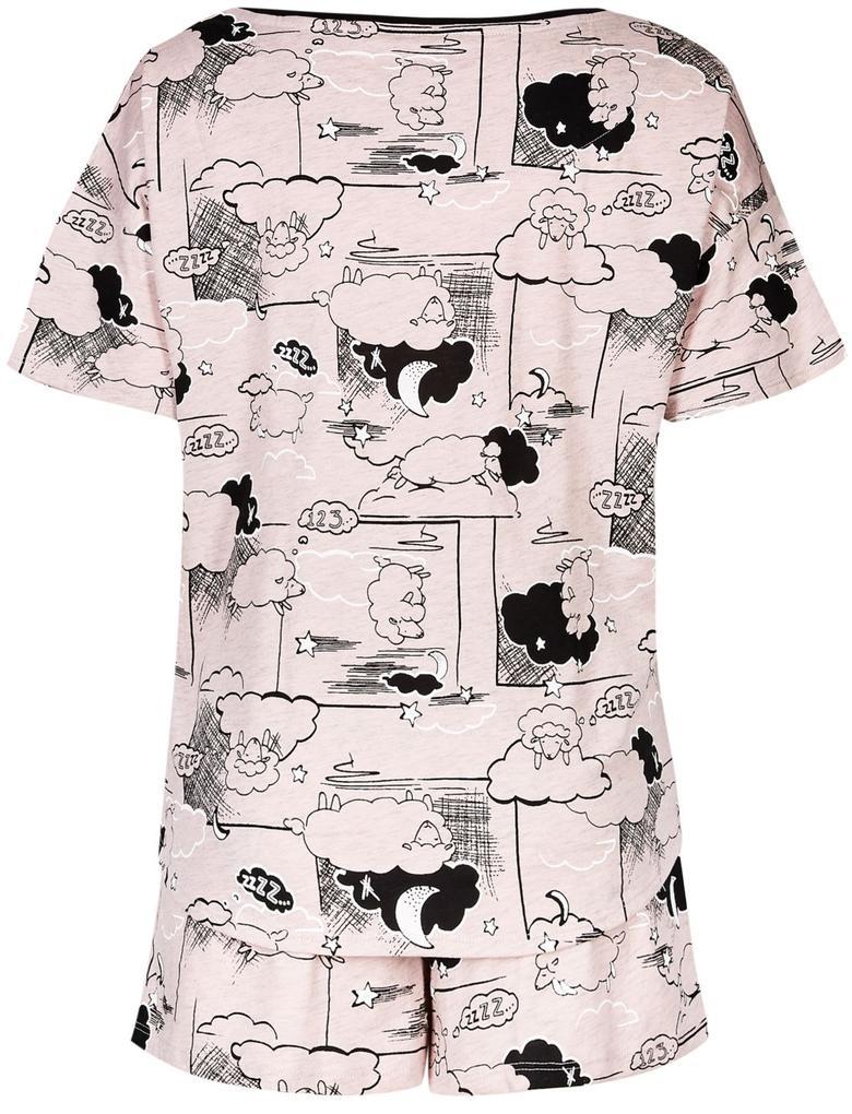 Pembe Desenli Pijama Takımı