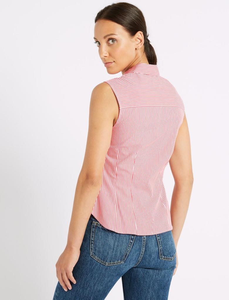 Pamuklu Çizgili Gömlek