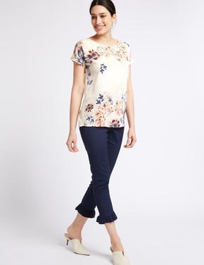 Çiçek Desenli T-Shirt