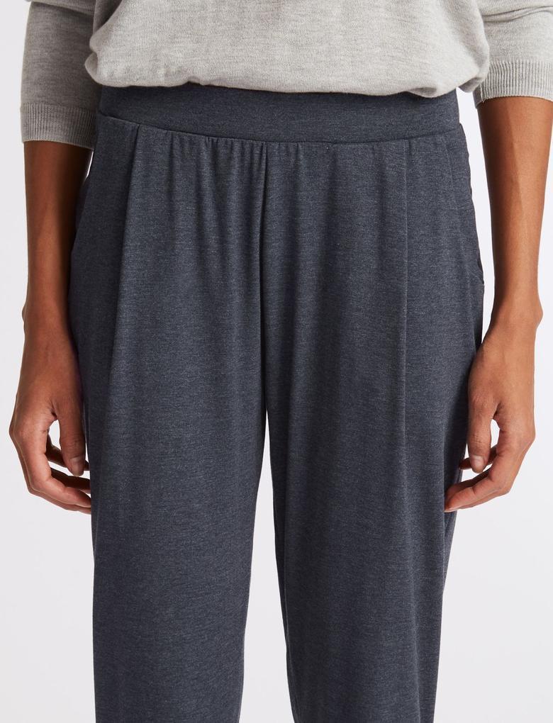 Lacivert Tapered Leg Peg Jarse Pantolon