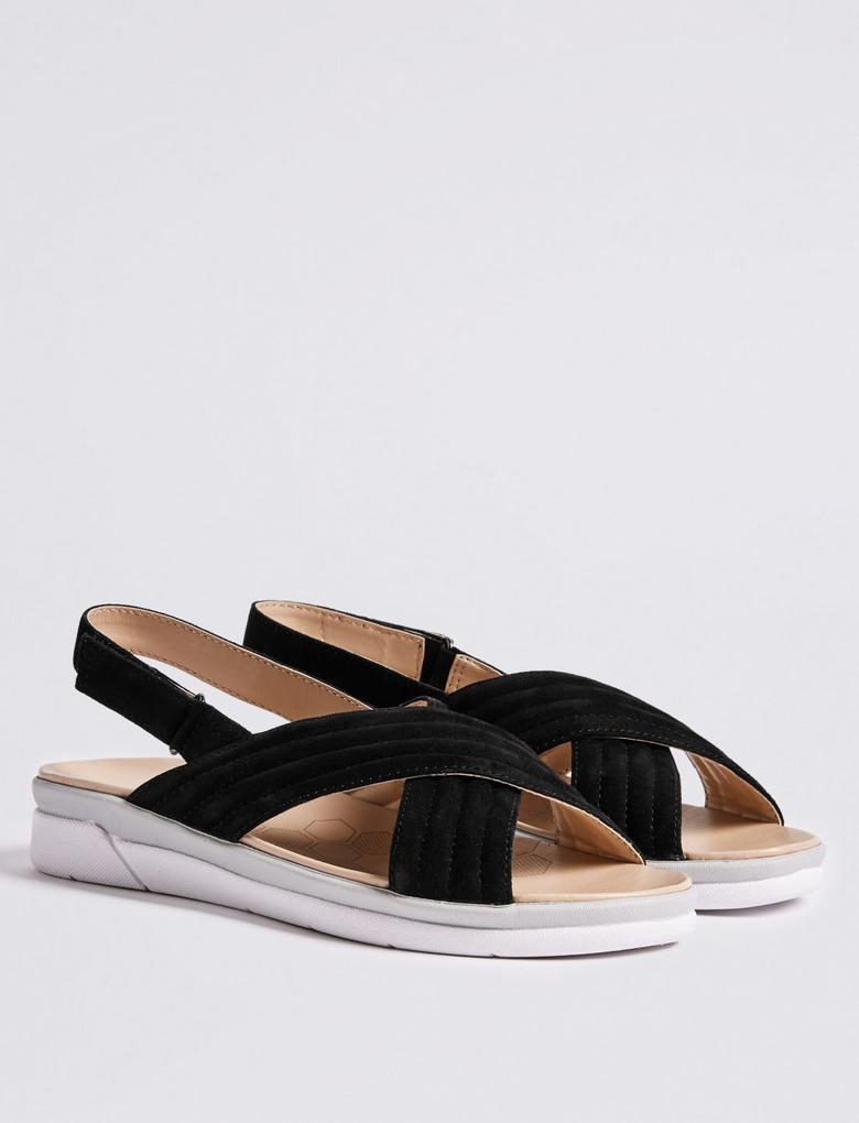 Siyah Süet Açık Ayakkabı