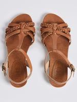 Geniş Kalıplı Deri Açık Ayakkabı