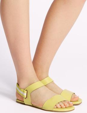 Sarı Arkası Elastik Açık Ayakkabı
