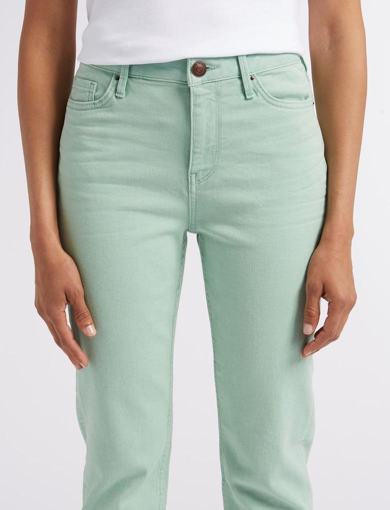 Relaxed Slim Orta Belli Jean Pantolon