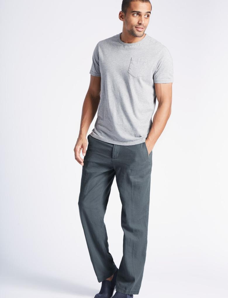 Mavi Regular Fit Keten Chino Pantolon