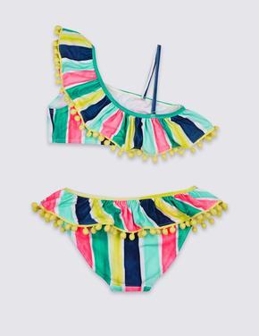 Lycra® Çizgili Bikini Takımı (Xtra Life™ Özelliği ile)