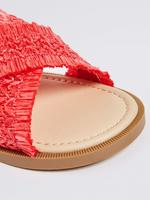 Kız Çocuk Pembe Cırtcırtlı Açık Ayakkabı