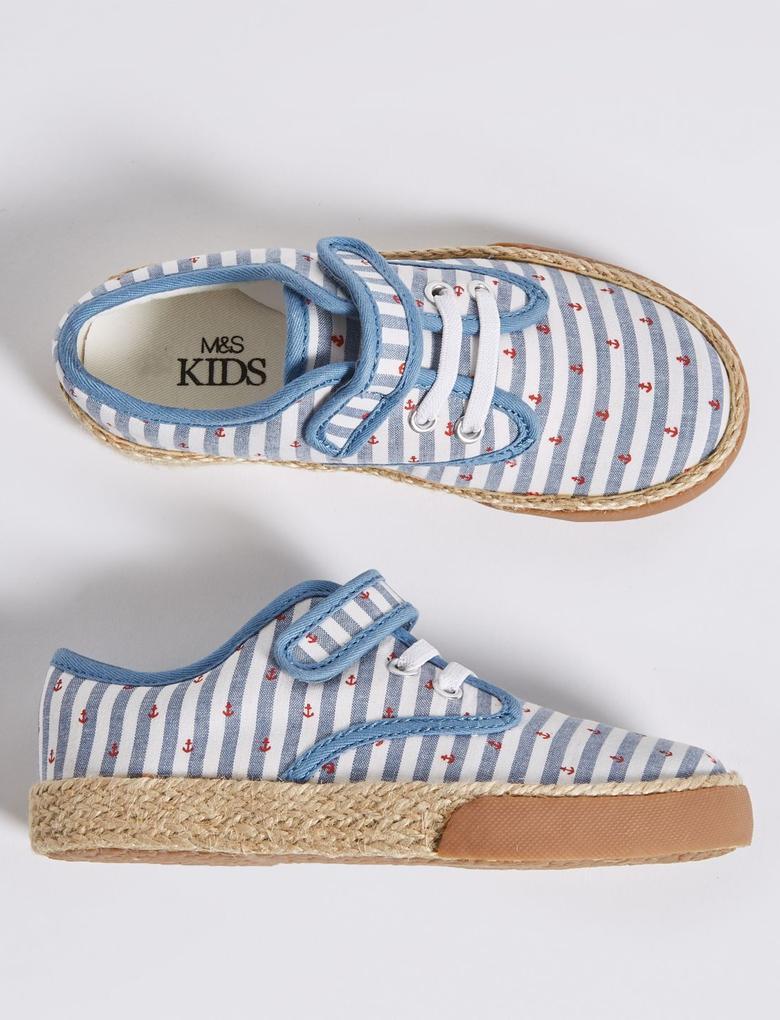 Erkek Çocuk Mavi Cırtcırtlı Freshfeet™ Spor Ayakkabı